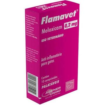 Anti-Inflamatório Agener União Flamavet para Gatos - 10 Comprimidos 0,2 Mg