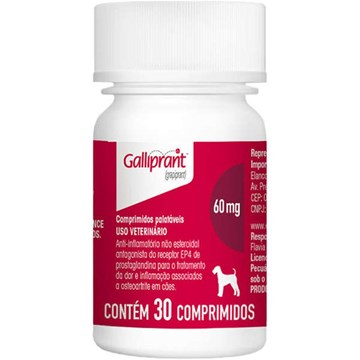 Anti-Inflamatório Elanco Galliprant 60 Mg para Cães 7 Comprimidos