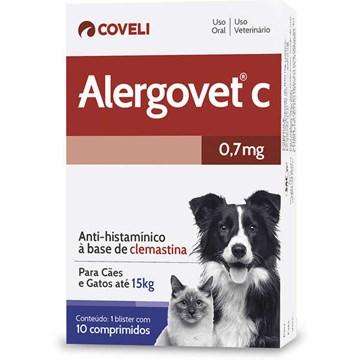 Antialérgico Coveli Alergovet C - 10 Comprimidos 0,7 Mg