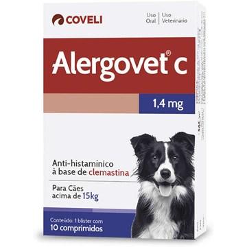Antialérgico Coveli Alergovet C - 10 Comprimidos 1,4 Mg
