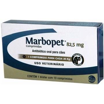 Antibiótico Ceva Marbopet 82,5 Mg - 10 Comprimidos
