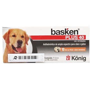Antiparasitário Basken Plus 40 4 Comprimidos