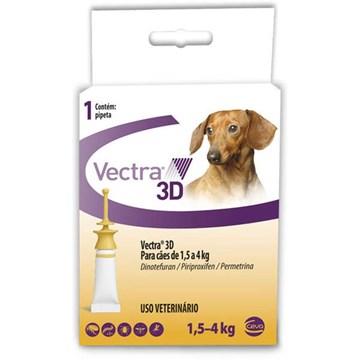 Antipulgas e Carrapatos Ceva Vectra 3D 0,8 mL para Cães de 1,5 a 4 Kg