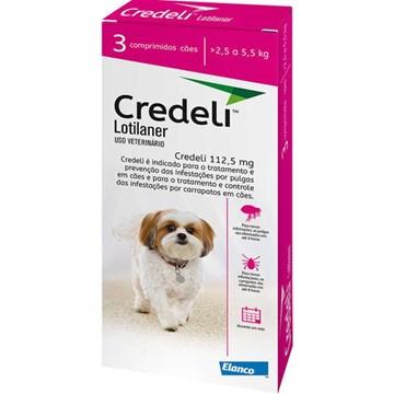 Antipulgas e Carrapatos Elanco Credeli 112,5 Mg para Cães de 2,5 a 5,5 Kg