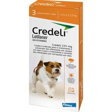 Antipulgas e Carrapatos Elanco Credeli 225 Mg para Cães de 5,5 a 11 Kg