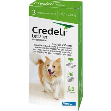 Antipulgas e Carrapatos Elanco Credeli 450 mg para Cães de 11 a 22 Kg