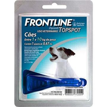 Antipulgas e Carrapatos Frontline Top Spot para Cães de 1 a 10 Kg