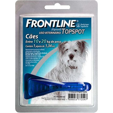 Antipulgas e Carrapatos Frontline Top Spot para Cães de 10 a 20 Kg