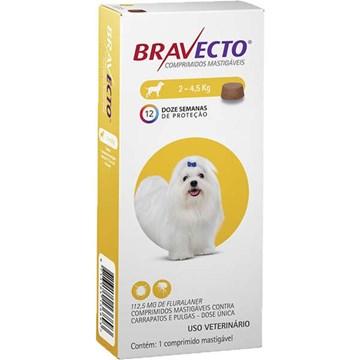 Antipulgas e Carrapatos MSD Bravecto para Cães de 2 a 4,5 Kg
