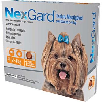 Antipulgas e Carrapatos NexGard 11,3 mg para Cães de 2 a 4 Kg