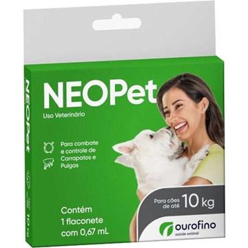 Antipulgas e Carrapatos Ourofino Neopet 0,67mL para Cães até 10 Kg