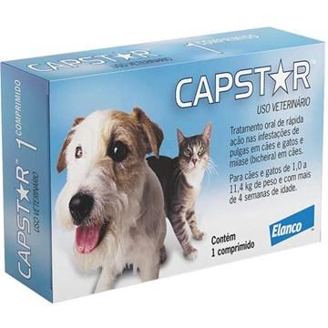 Antipulgas Elanco Capstar 11 Mg para Cães e Gatos até 11,4 Kg 1 Comprimido