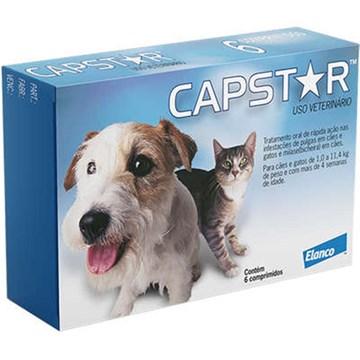 Antipulgas Elanco Capstar 11 Mg para Cães e Gatos até 11,4 Kg 6 Comprimidos