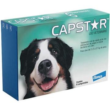 Antipulgas Elanco Capstar 57 mg para Cães acima de 11,4 Kg 6 Comprimidos
