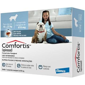 Antipulgas Elanco Comfortis 810 mg para Cães de 18 a 27 Kg - 1 Comprimido