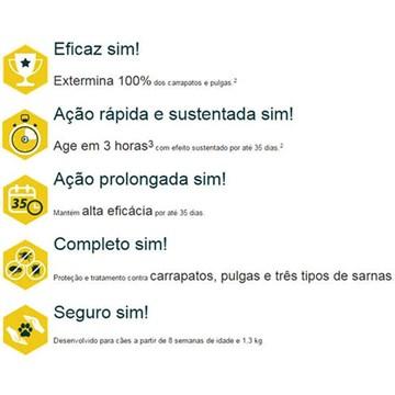 Antipulgas Zoetis Simparic 40 mg para Cães de 10,1 a 20 Kg