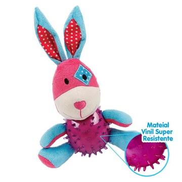 Brinquedo de Pelúcia Smart Rabbit com Vinil para Cães - 1 Unidade
