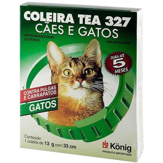 Coleira Antiparasitária Externo 33 cm para Gatos