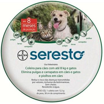 Coleira Antipulgas e Carrapatos Bayer Seresto para Cães e Gatos