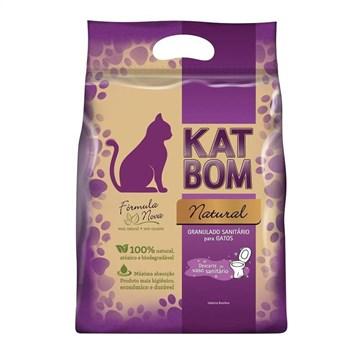 Granulado Higiênico Kat Bom Natural Para Gatos 3 Kg