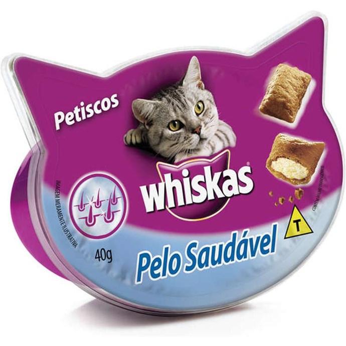 Petisco Whiskas Temptations Pelo Saudável para Gatos Adultos