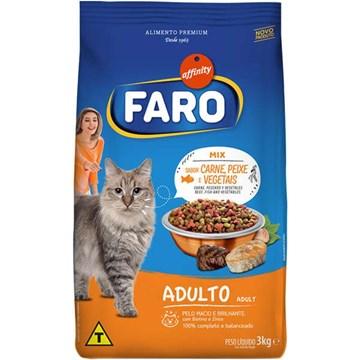 Ração Affinity Faro Mix Sabor Carne, Peixe e Vegetais para Gatos Adultos 3 Kg