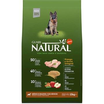 Ração Affinity Guabi Natural Frango e Arroz Integral Cães Sênior Médio e Grande 15 Kg