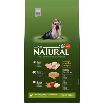 Ração Affinity Guabi Natural Frango e Arroz Integral Cães Sênior Mini e Pequeno 12 Kg