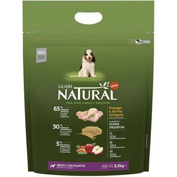 Ração Affinity Guabi Natural Frango e Arroz Integral para Cães Filhotes Raças Média 2,5 Kg
