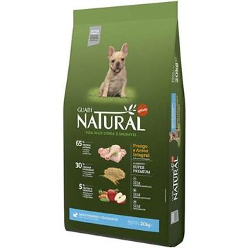 Ração Affinity Guabi Natural Frango e Arroz Integral para Cães Filhotes Raças Mini e Pequena 20 Kg