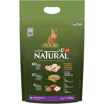 Ração Affinity Guabi Natural Frango e Arroz Integral para Gatos Adultos 1,5 Kg