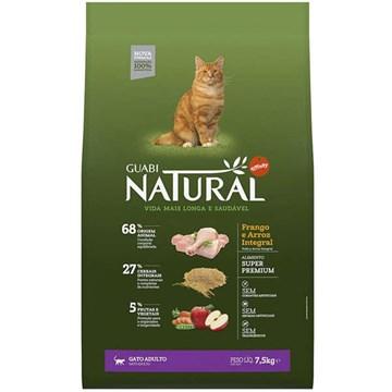 Ração Affinity Guabi Natural Frango e Arroz Integral para Gatos Adultos 7,5 Kg