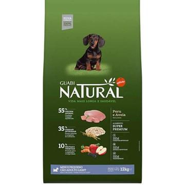 Ração Affinity Guabi Natural Light Peru e Aveia Cães Adultos Raças Mini e Pequeno 12 Kg