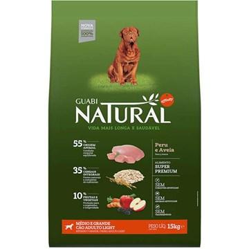 Ração Affinity Guabi Natural Light Peru e Aveia para Cães Adultos Raças Médias e Grandes 15 Kg
