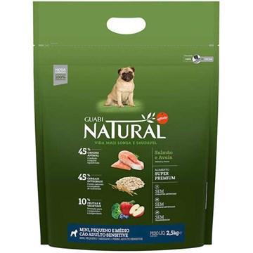 Ração Affinity Guabi Natural Sensitive Salmão e Aveia Cães Adultos Raças Mini, Pequeno e Médio 2,5 Kg