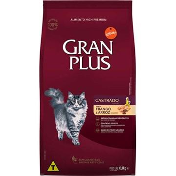 Ração Affinity PetCare GranPlus Frango e Arroz para Gatos Castrados Adultos 10,1 Kg