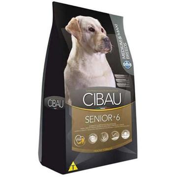 Ração Farmina Cibau Senior +6 para Cães de Raças Médias e Grandes com 6 Anos ou Mais de Idade