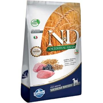 Ração Farmina N&D Ancestral Grain Cordeiro Cães Adultos Raças Médias