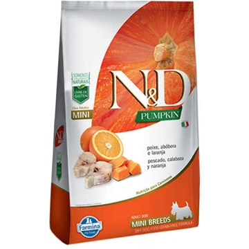 Ração Farmina N&D Pumpkin Peixe para Cães Adultos de Raças Pequenas