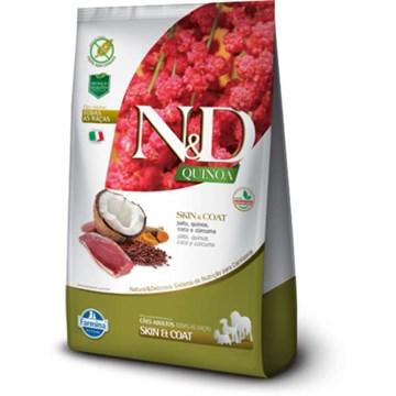 Ração Farmina N&D Quinoa Skin & Coat Pato para Cães Adultos de Todas as Raças
