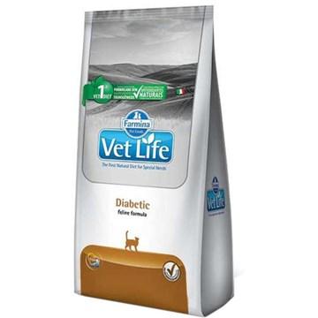 Ração Farmina Vet Life Diabetic para Gatos Adultos Diabéticos