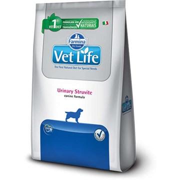 Ração Farmina Vet Life Natural Urinary Struvite para Cães Adultos com Distúrbios Urinários