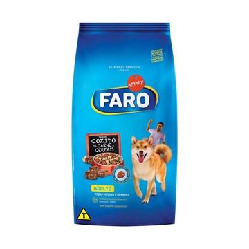 Ração Faro para Cães Adultos Raça Média Sabor Carne e Cereais 15 Kg