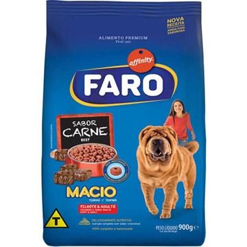 Ração Guabi Faro Macio Cães Filhotes e Adultos Carne 900 Gr