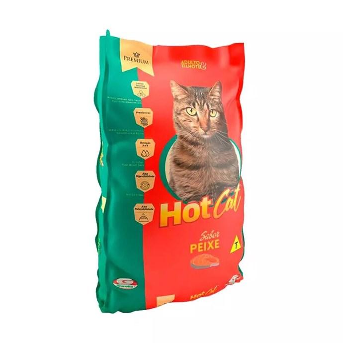 Ração Hot Cat para Gatos Sabor Peixe