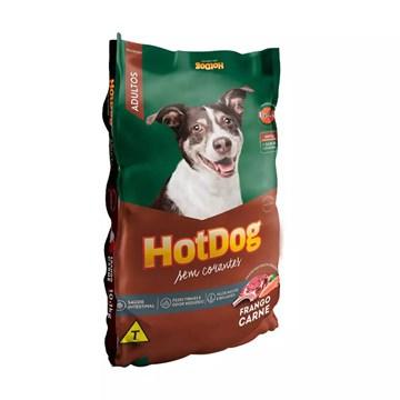 Ração Hot Dog Sem Corantes para Cães Adultos Sabor Carne e Frango