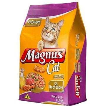 Ração Magnus Cat Premium Só Recheados para Gatos Adultos 15 Kg