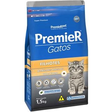 Ração Premier Pet Ambientes Internos Gatos Filhotes Frango