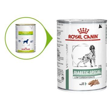 Ração Royal Canin Lata Canine Veterinary Diet Diabetic Especial Low Carbohidrat Wet
