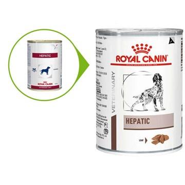 Ração Royal Canin Lata Canine Veterinary Diet Hepatic Wet para Cães com Doenças Hepaticas